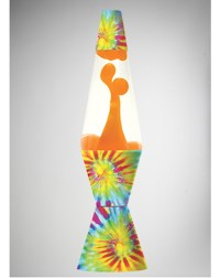 Tie Dye with Orange Lava 32oz Lava Lamp from Spencers Gifts