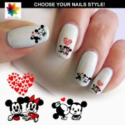 baby mouse in love disney nail
