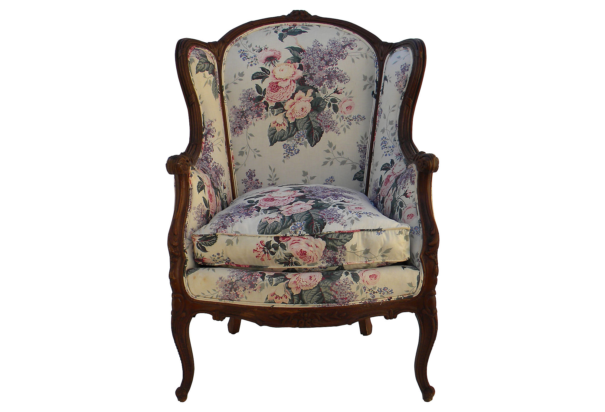 one kings lane chairs posture chair gumtree upholstered wingback from
