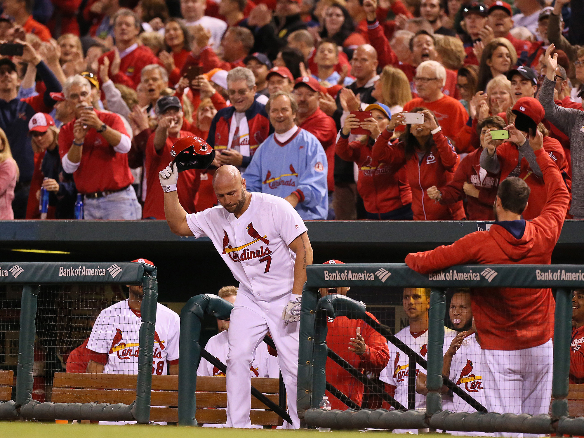 Image result for photos of Matt Holliday's Home run last evening