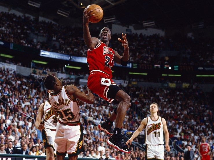 Chicago Bulls v Seattle SuperSonics