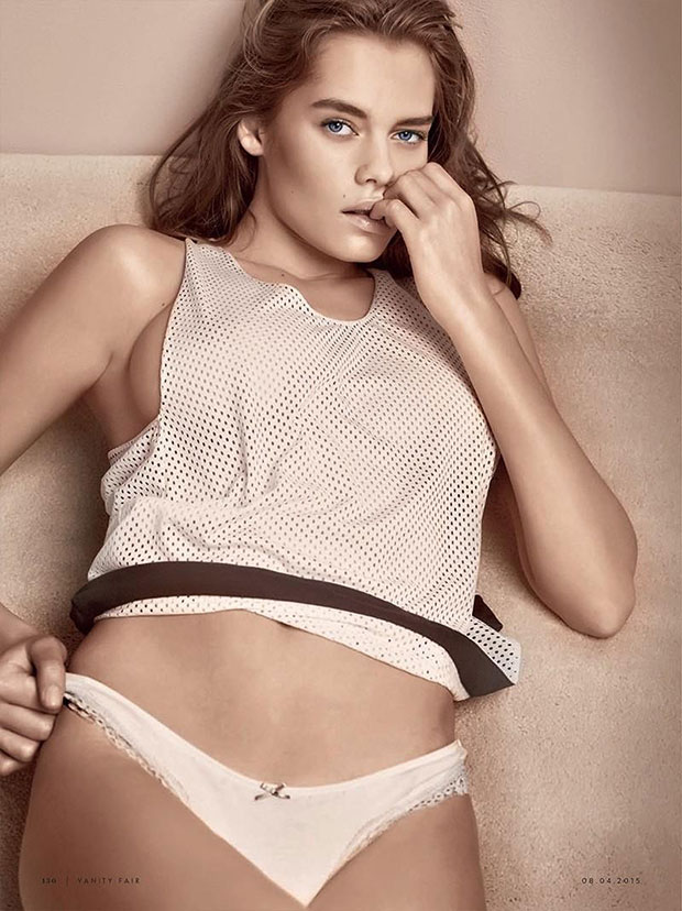 rookie solveig seduces in pastel lingerie for vanity fair italy