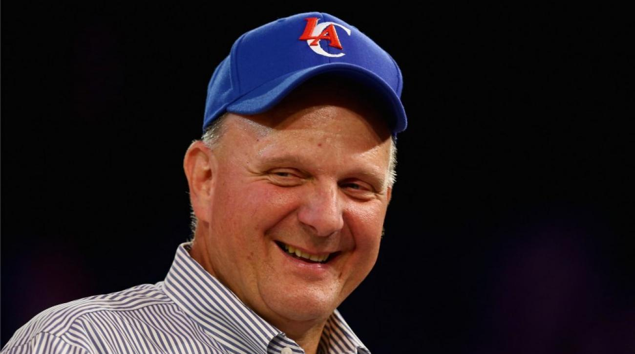Los Angeles Clippers owner Steve Ballmer is very excited