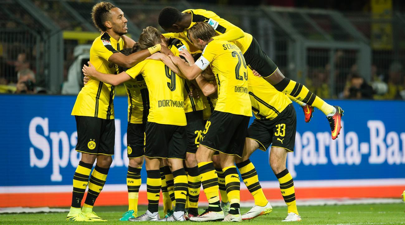 Dortmund Goal Guerreiro Finishes After Two Backheels