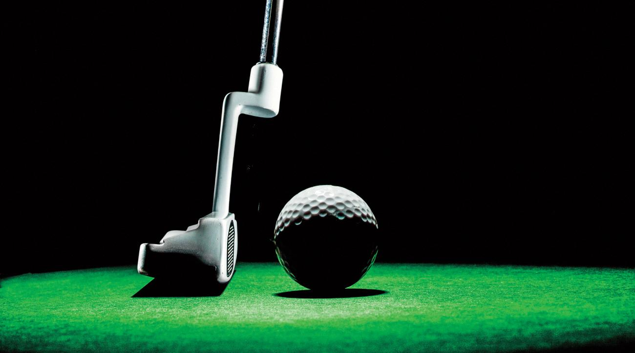 Make putting practice less of a chore by turning it into a personal competition.