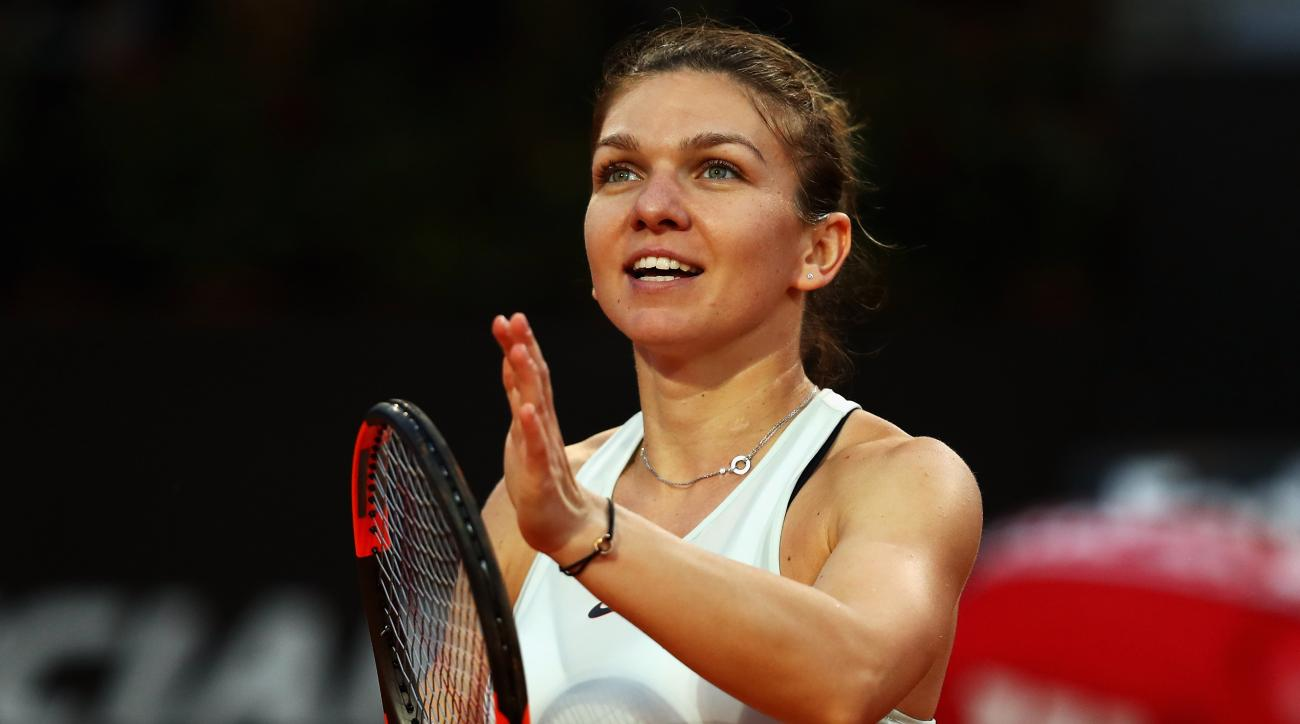 Garbine Muguruza Simona Halep Advance To French Open