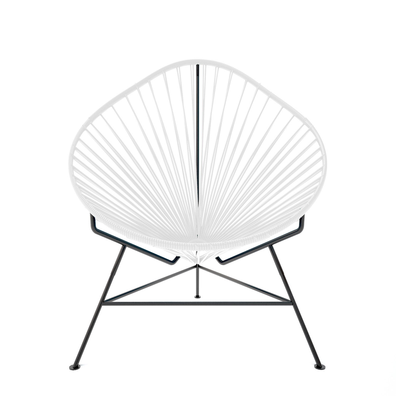 innit acapulco chair j&f covers dublin white weave on black frame touch of modern medium