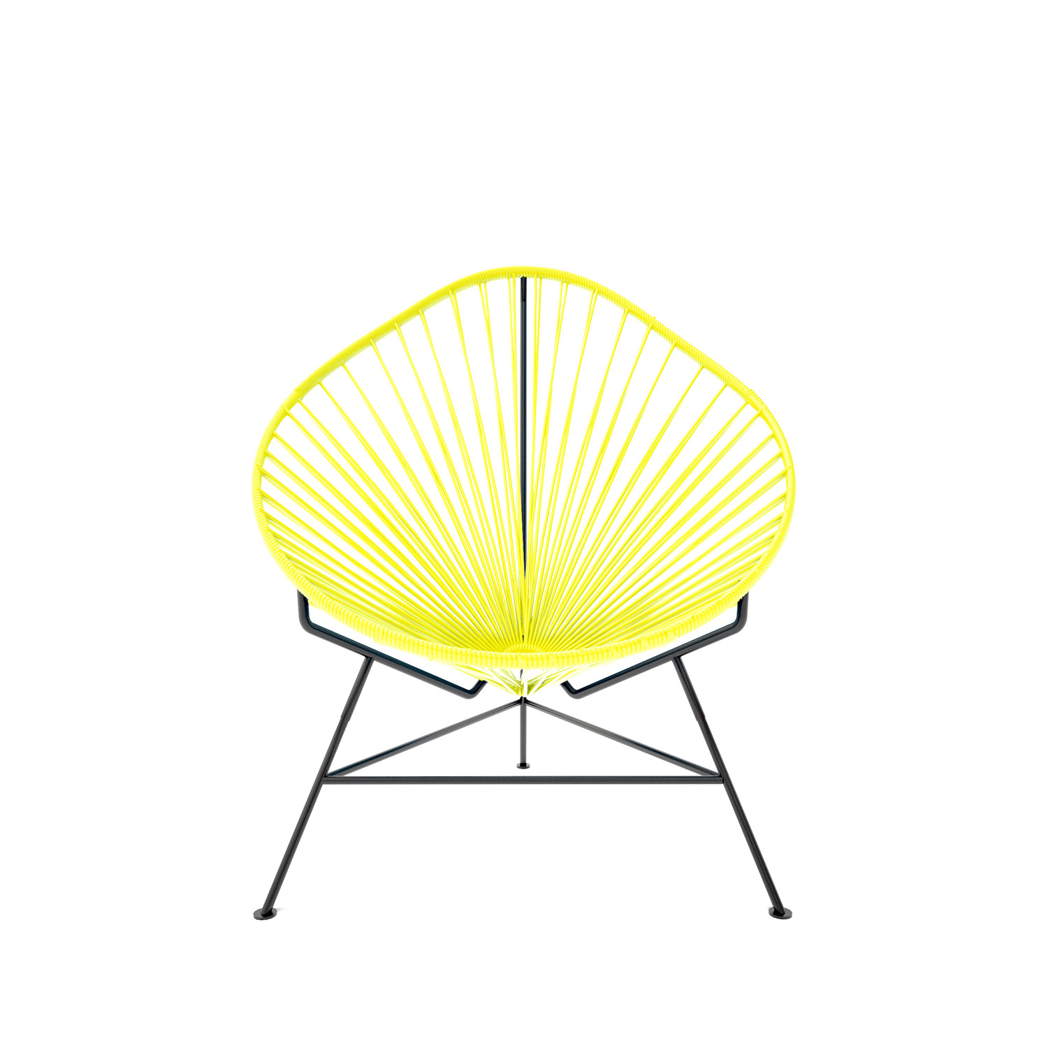 innit acapulco chair dining covers bunnings baby yellow weave on black frame