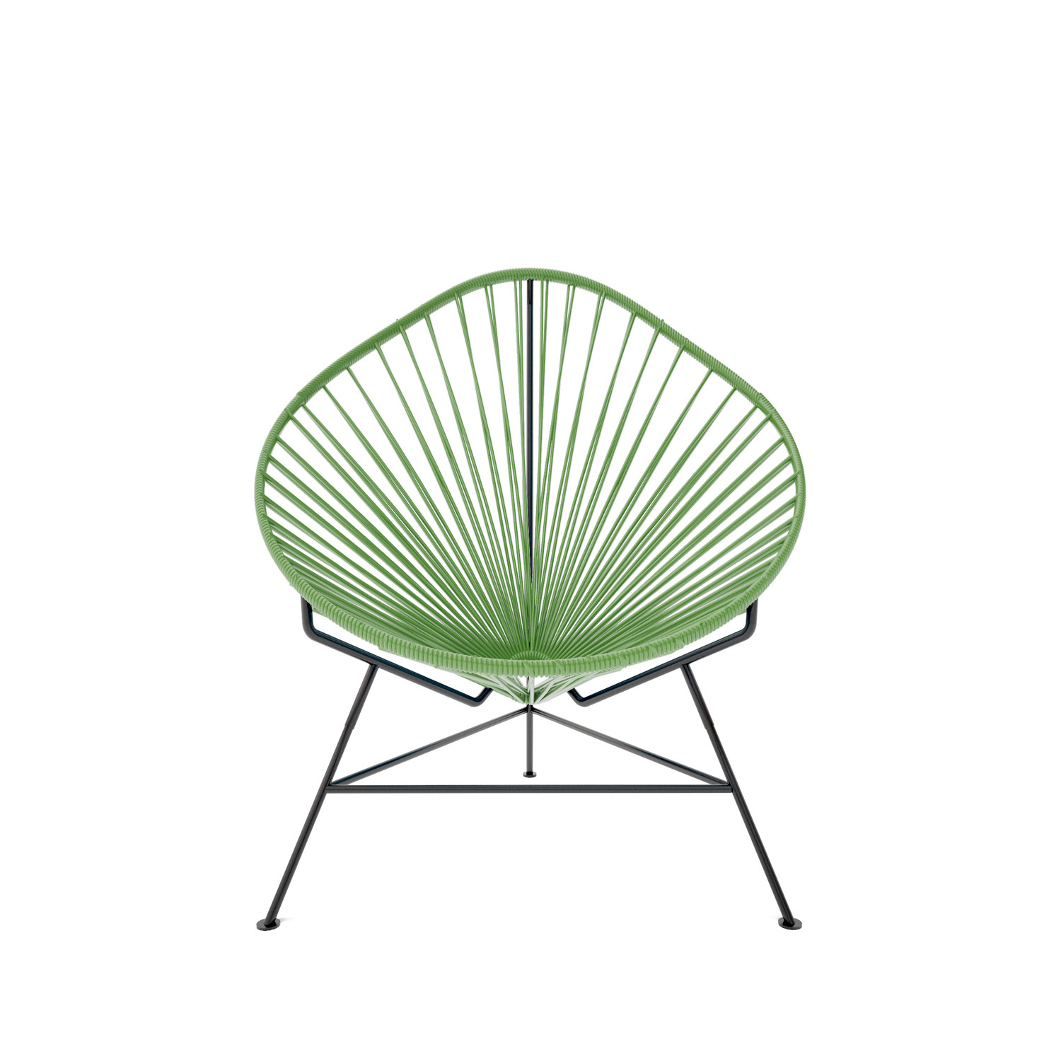 innit acapulco chair desk cb2 baby olive weave on black frame