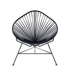 Acapulco Lounge Chair Steel Net Black Weave On Frame Innit