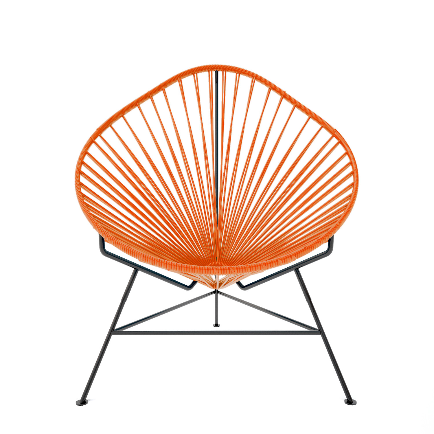acapulco chair orange upholstered dining room chairs with arms weave on black frame innit