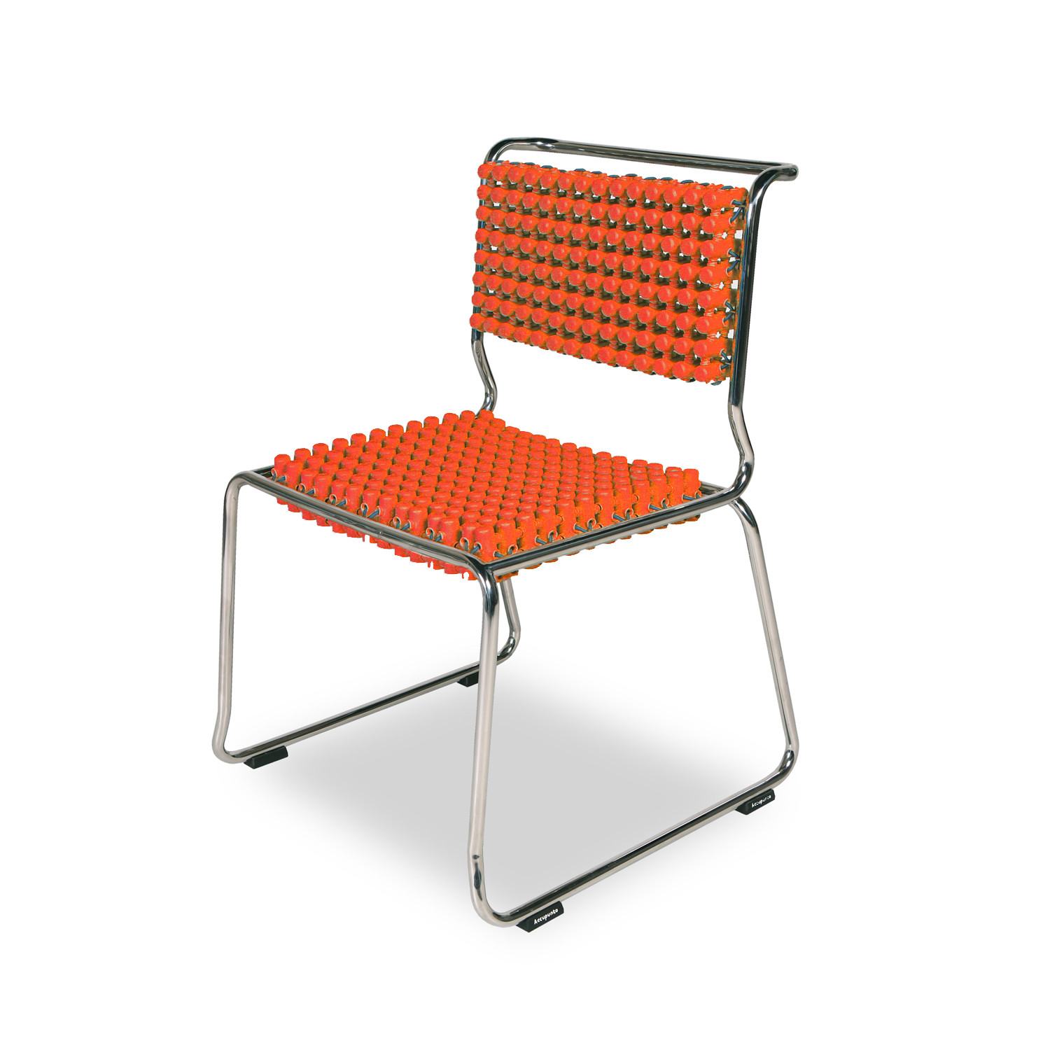 orange stackable chairs rocking chair recliner for nursery dining accupunto touch of modern