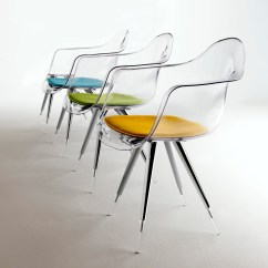 See Through Dining Chairs Patio Chair Cushions With Velcro Fasteners Angel Base Transparant Arm Shell Clear No