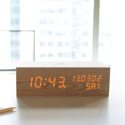 Image result for wooden alarm clock