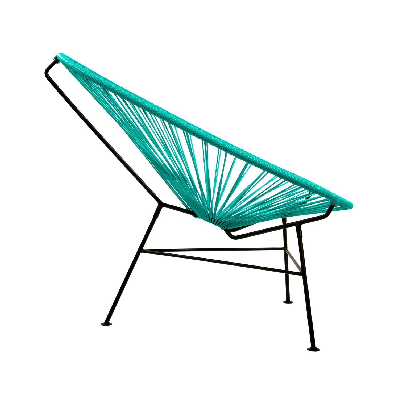 turquoise lounge chair ergonomic comfortable acapulco modern steel black frame shell