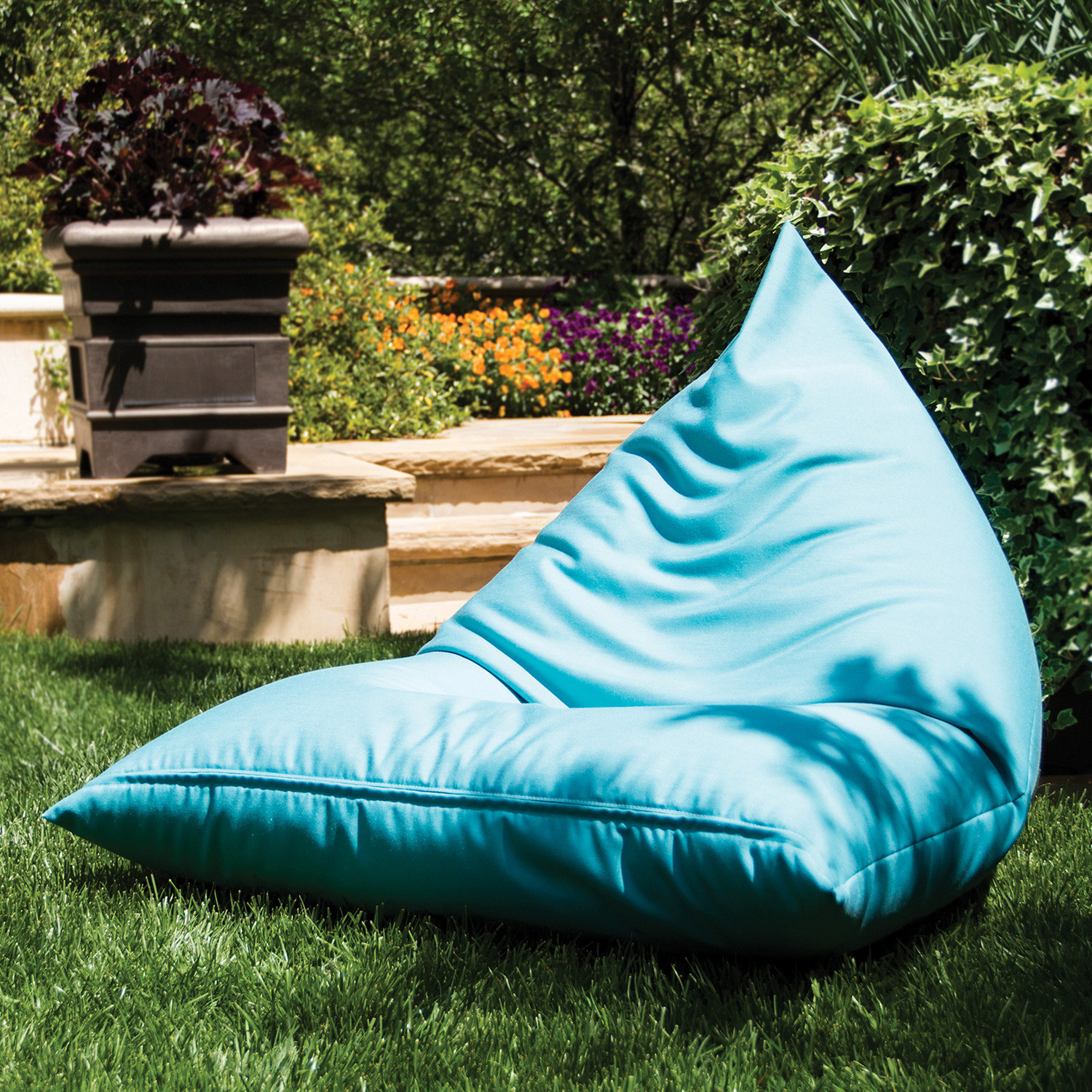 Outdoor Bean Bag Chairs Jaxx Twist Outdoor Bean Bag Light Blue Jaxx Outdoor