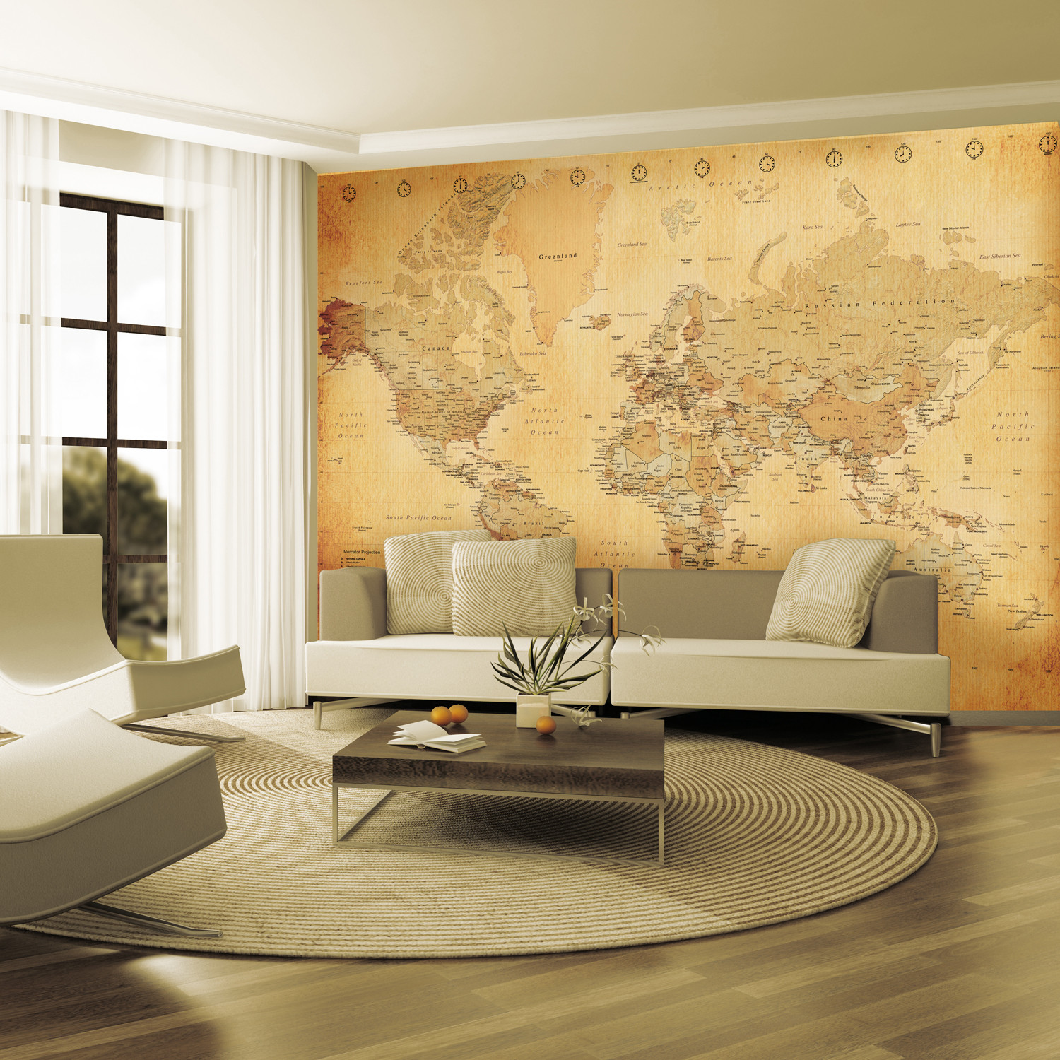 Vintage World Map - 1 Wall Murals Touch Of Modern