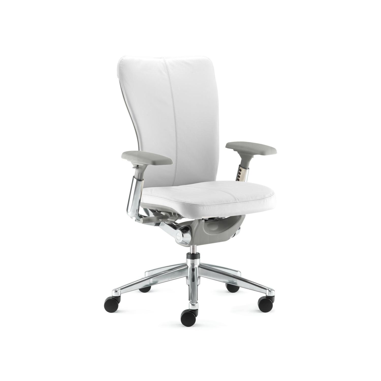 haworth zody chair ergonomic white task leather saddle peaceful smoke touch