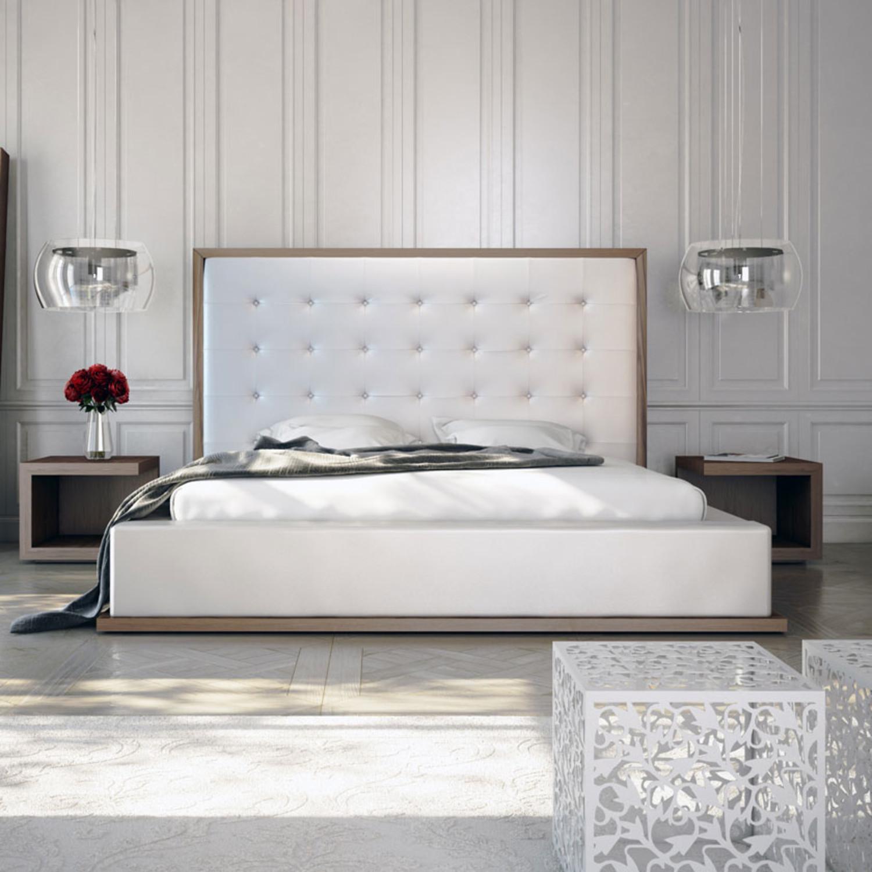 Ludlow Bed White Walnut California King - Modloft
