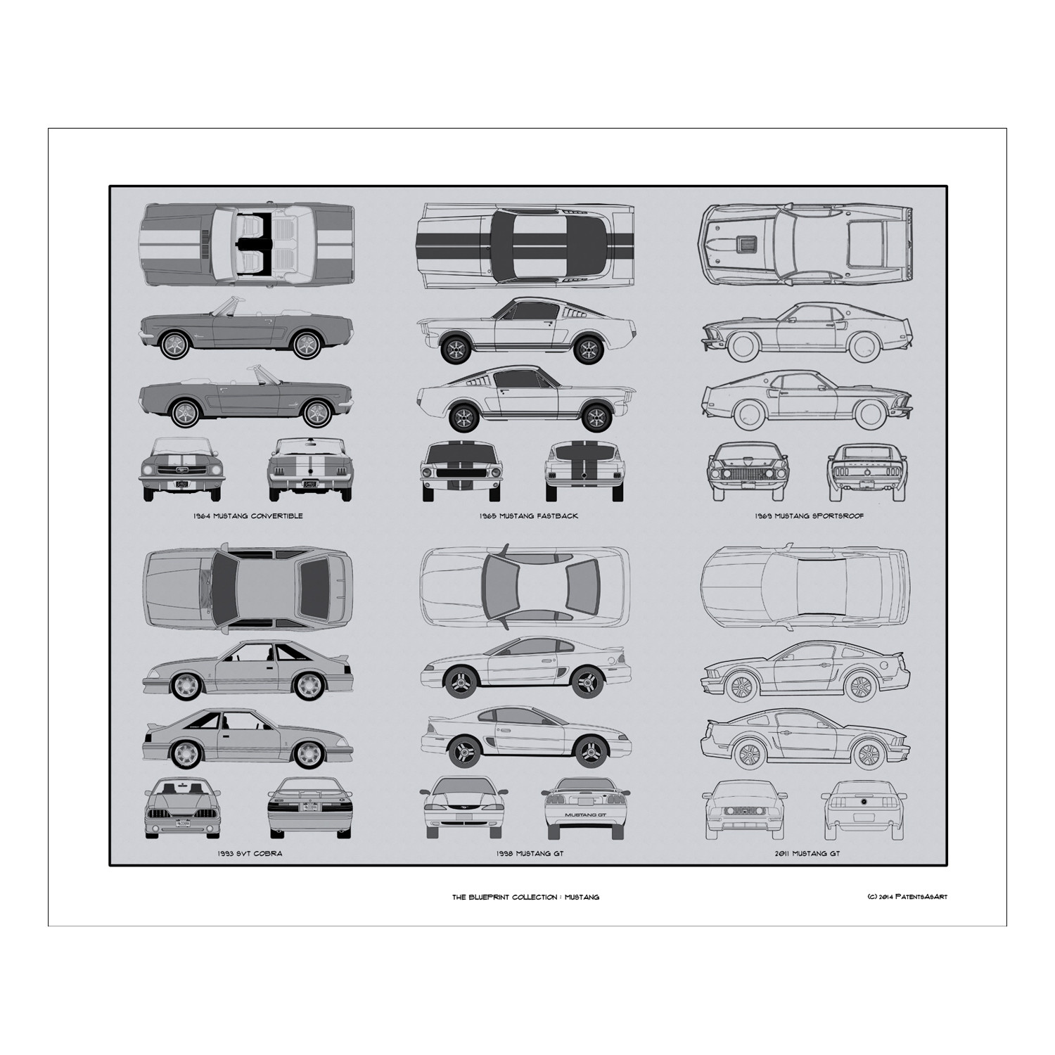 hight resolution of de95503646879094c517bb0af2287b49 medium ford mustang blueprint collection