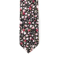 Cotton Skinny Tie // Black Floral - DHA 1 - Touch of Modern
