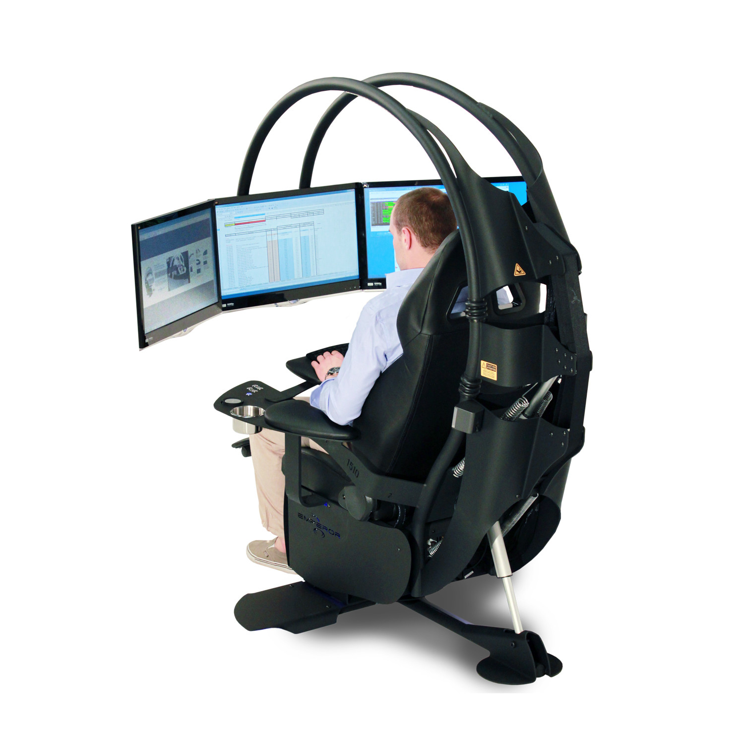 Scorpion Computer Chair Emperor 1510 Carbon Black Mwe Lab Touch Of Modern