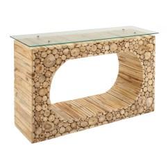 Teak Sofa Table Large Plush Sectional Sofas Console Glass Universal Innovative Designs Inc