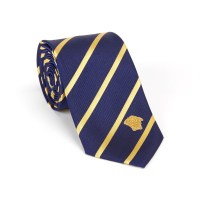 Versace Collection Silk Tie // Blue + Gold Stripe - The ...