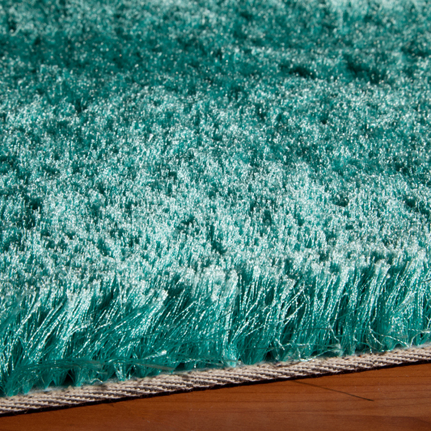 Teal Shaggy Rug Home Decor