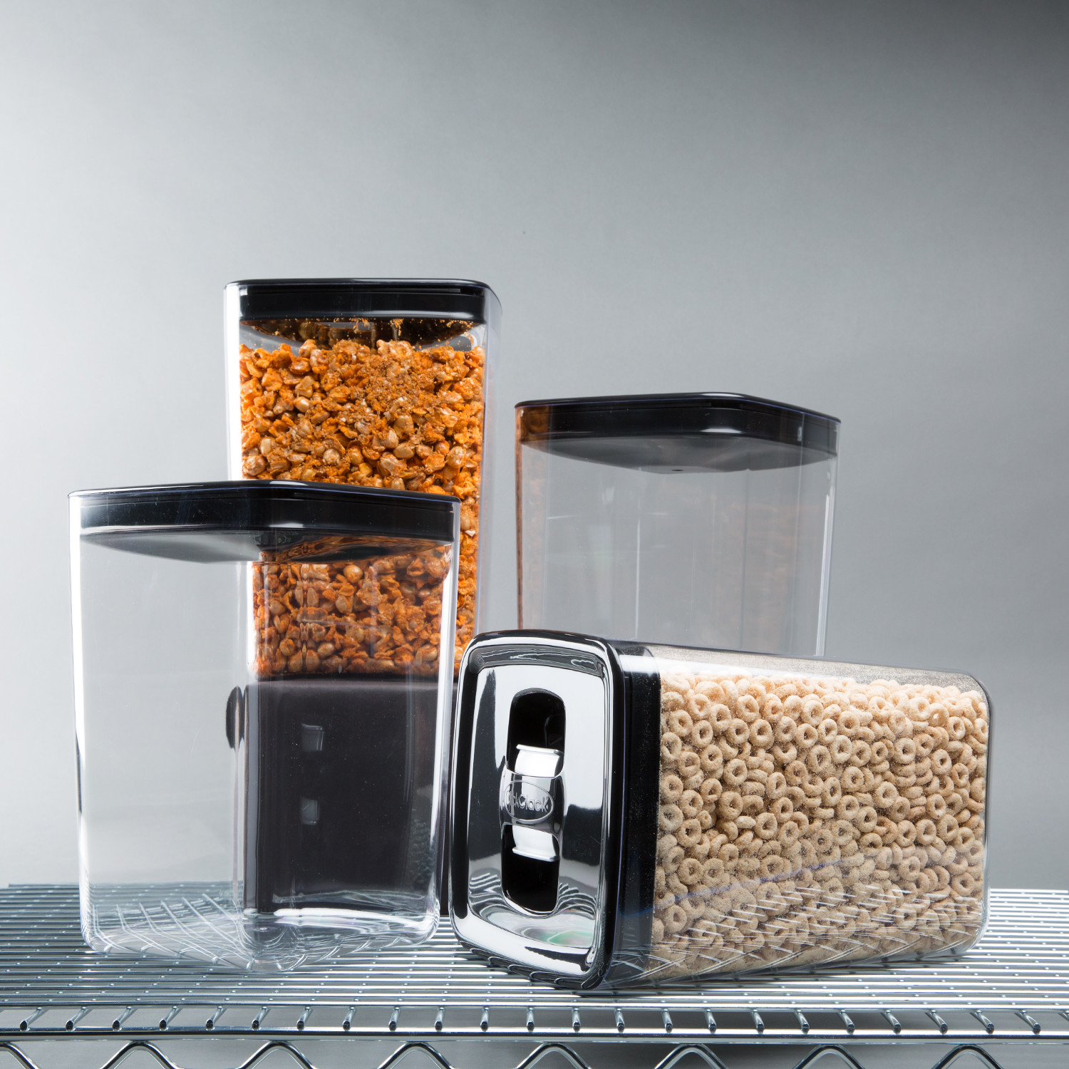 Cube Canister Set Of 4 3 Qt - Click Clack Touch