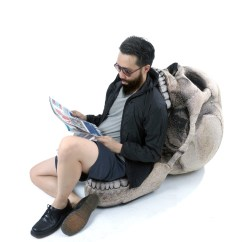 Skull Chair Armless Camping Chic Sin Design Touch Of Modern