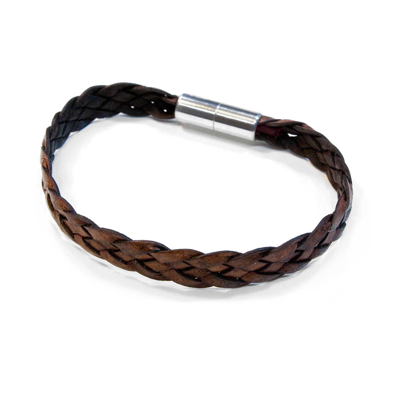 Sonoma Flat Braided Leather Bracelet Aluminum Clasp