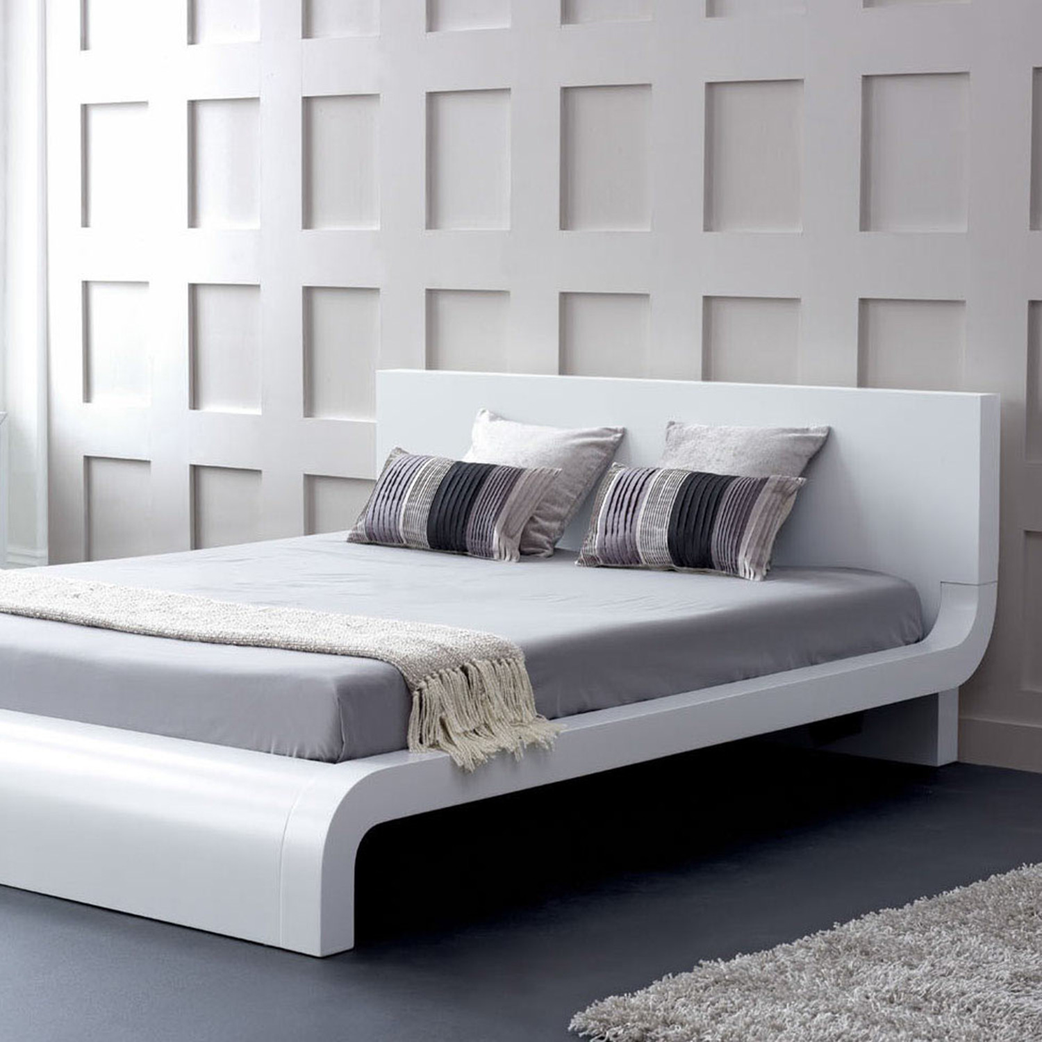 Modrest Roma Modern Platform Bed Queen Vig Furniture Touch Of Modern