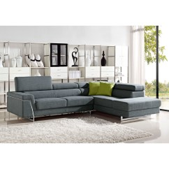 Modern Fabric Sofa Set Leatherette Divani Casa Darby Sectional Vig