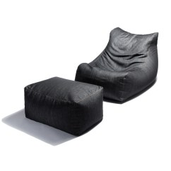 Denim Bean Bag Chair Club Chairs With Ottomans 43 Ottoman Jaxx Touch Of Modern