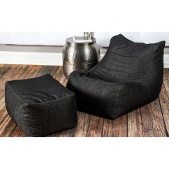Denim Bean Bag Chair Adult Chairs 43 Ottoman Jaxx Touch Of Modern