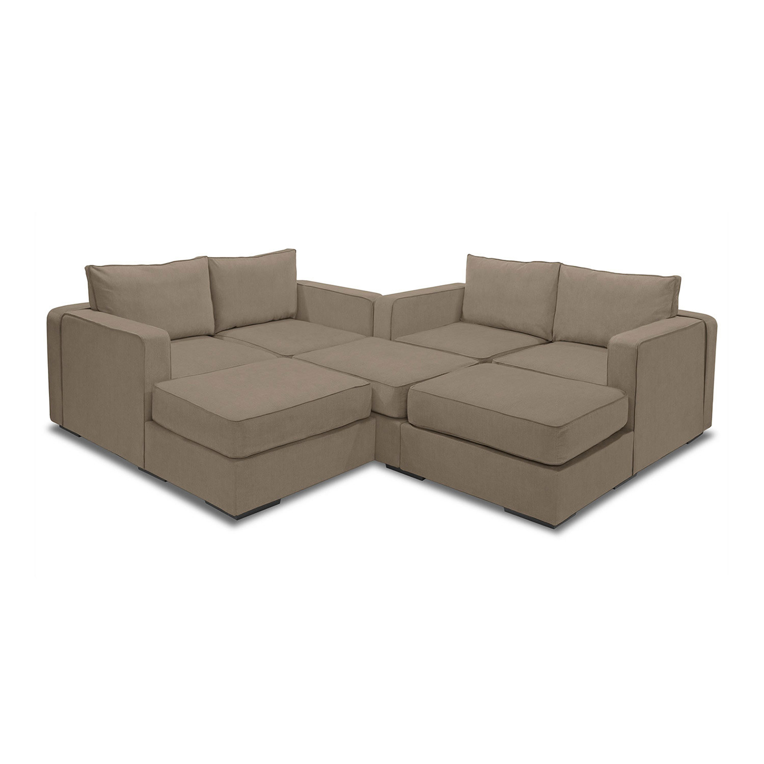 5 series sactionals m lounger taupe
