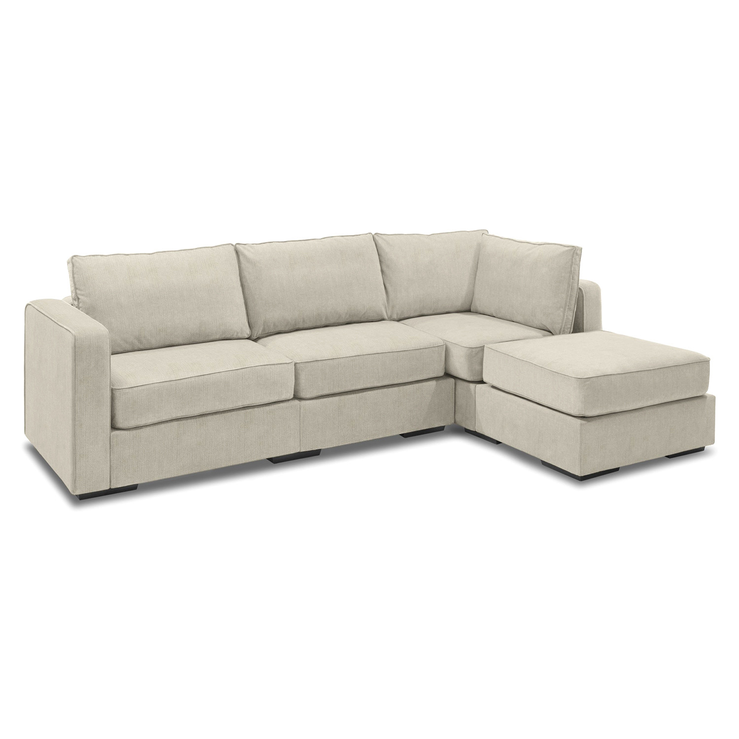 love sac chair leather easy 5 series sactionals chaise sectional taupe lovesac