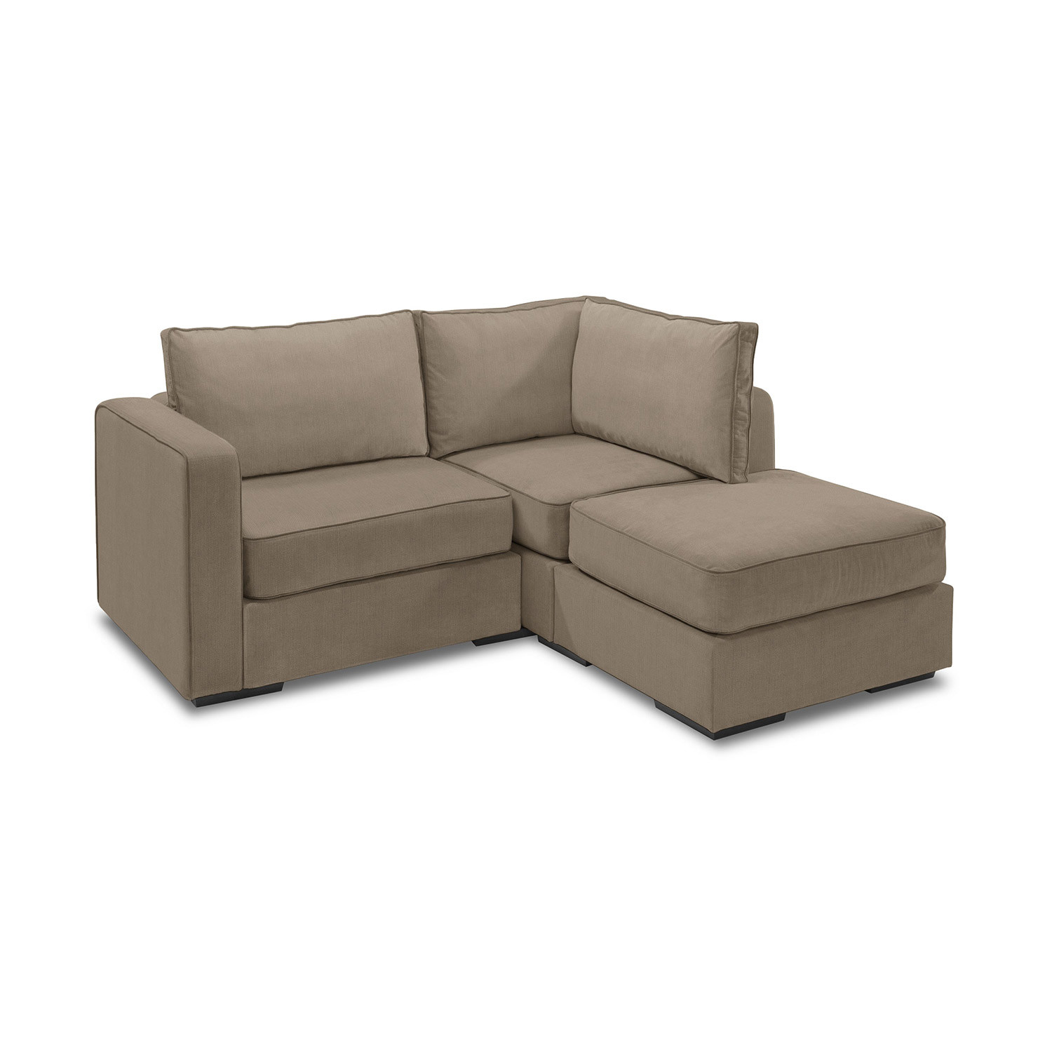 love sac chair covers with arms 5 series sactionals small sectional taupe lovesac
