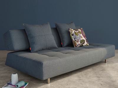 Innovation Retro Convertible Furniture  Long Horn D.E. Sofa (Basic Dark Grey)