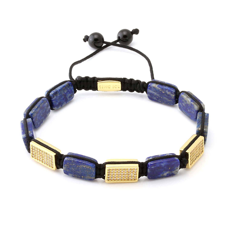 14K Gold  Rectangle Lapis  Bracelet  Marz Lyfe  Touch of Modern