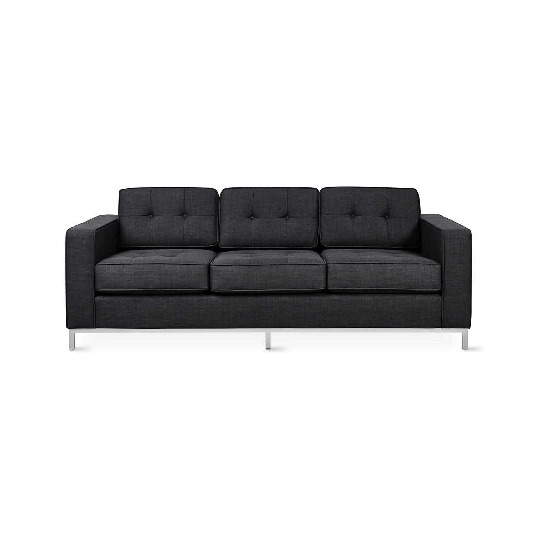 sofa steel shops near glasgow jane stainless base laurentian onyx gus