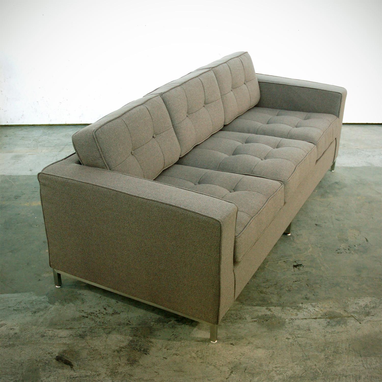 sofa steel wicker sectional sleeper jane stainless base urban tweed ink gus