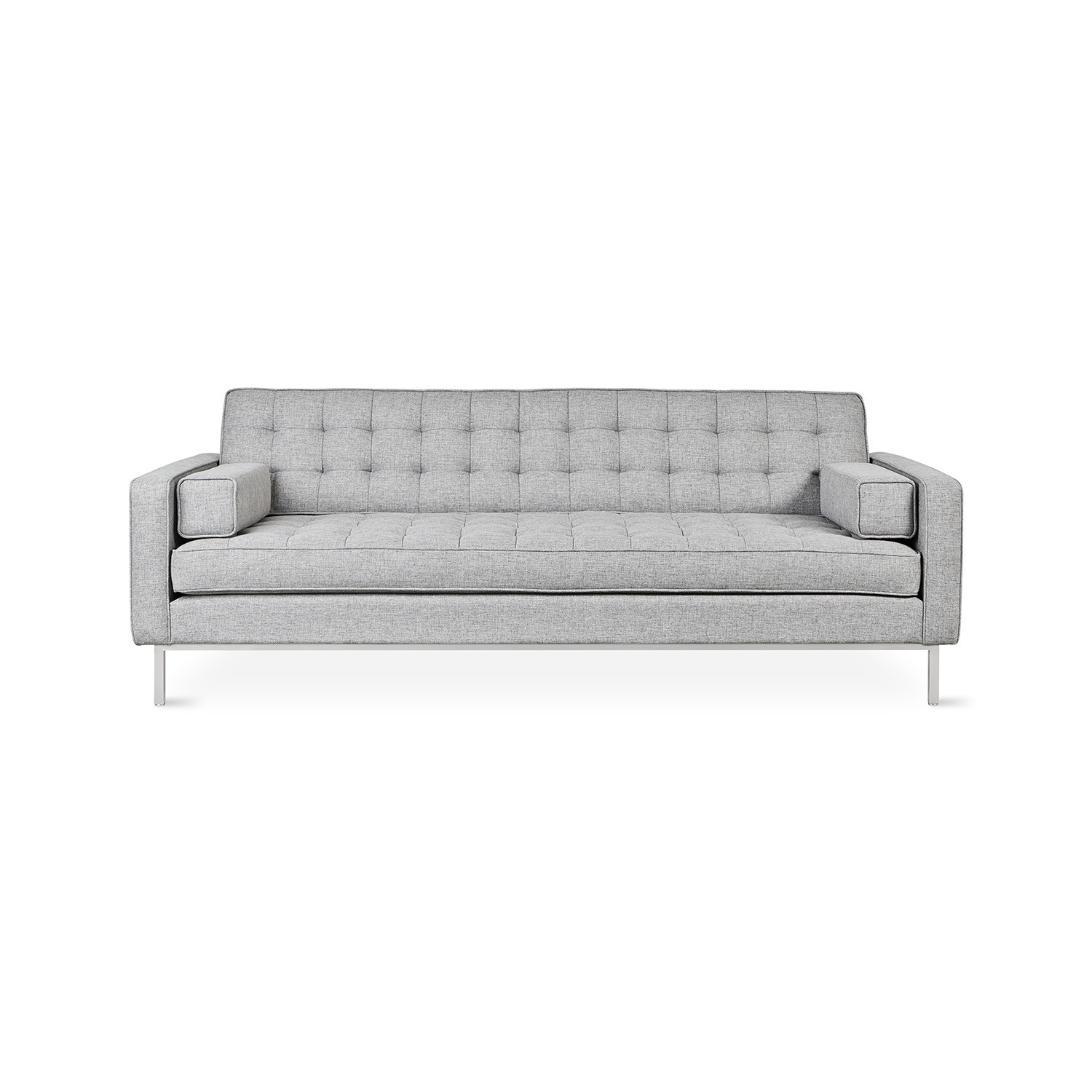 sofa steel sectional sofas under 800 spencer stainless base bayview silver