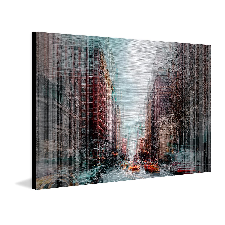 "Metropolitan Aluminum 18"" X 12"" 1.5"" - Surreal Urban Art Touch Of Modern"