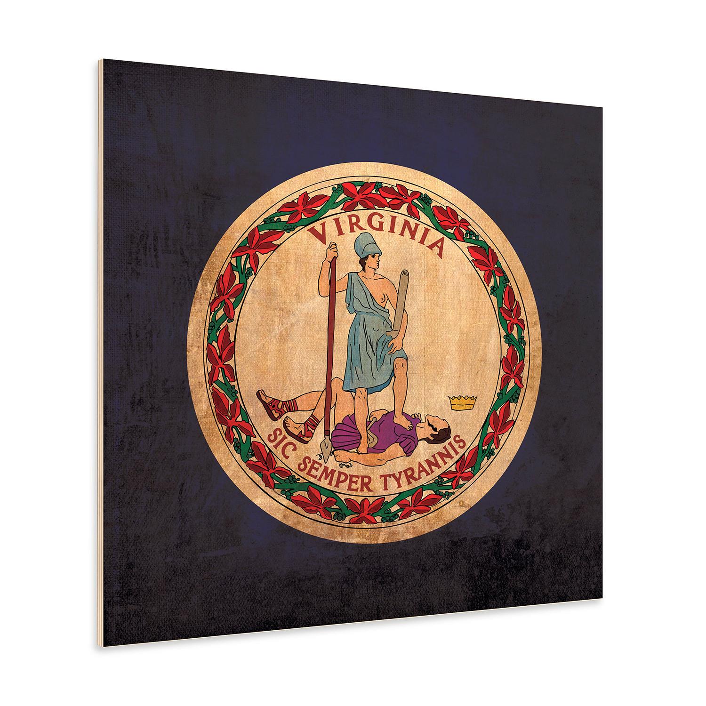 "Virginia Flag 12"" X Paper Print - Flags And Seals"