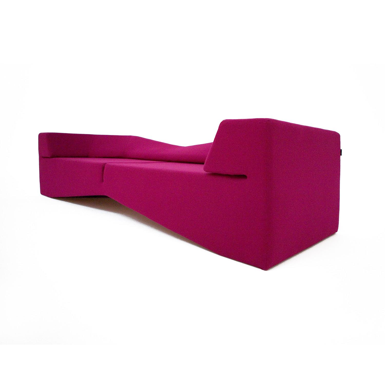 fuschia sofa leather with nailheads xo wool nolen niu touch of modern