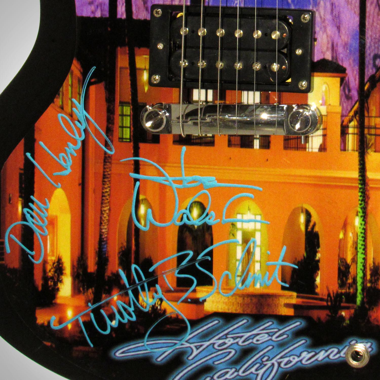 Eagles Hotel California Band Autographed Guitar - Rare
