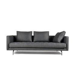 Grey Tweed Sectional Sofa Office Furniture Malaysia Bendill 3 Seat Dark Gray Manhattan Comfort