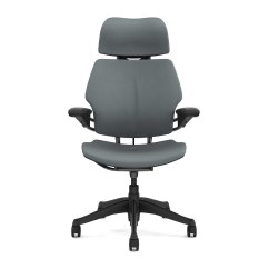 Freedom Task Chair With Headrest Orange Deck 43 Graphite Humanscale
